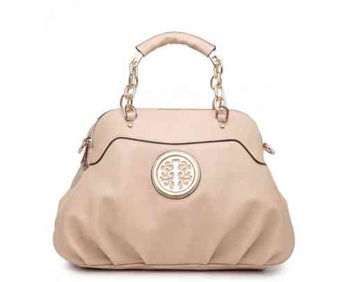 Two Compartments Tote Handbag | Beige