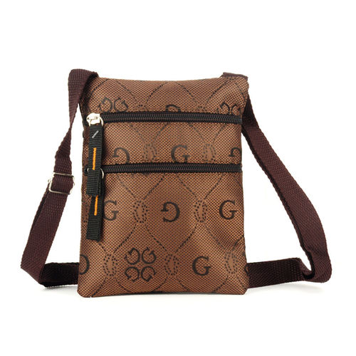 Letter G Printing Cross Body Bag | Brown