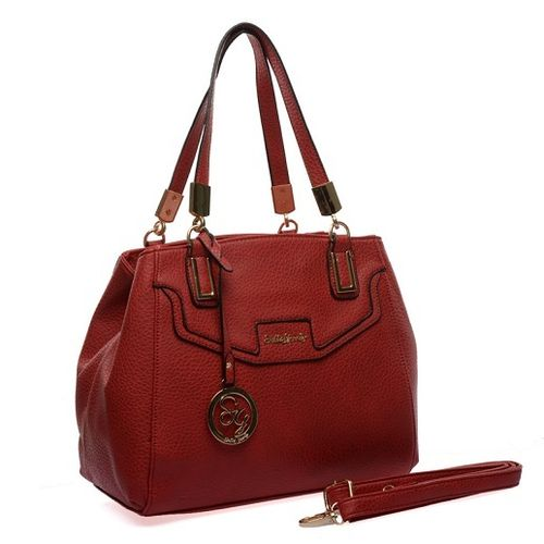 Sally Young Gold Hinge Detail Handbag - Red