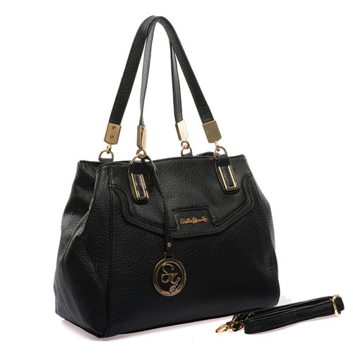 Sally Young Gold Hinge Detail Handbag - Black