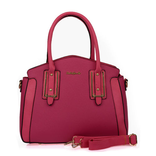 Sally Young Patchwork Handbag-Fuchsia