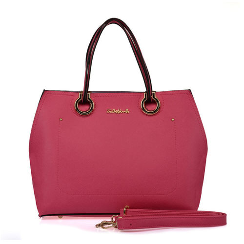 Sally Young Patchwork Handbag - Fuchsia