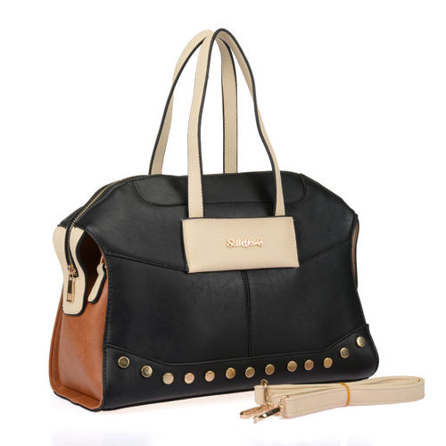 Sally Young Patchwork Handbag - Black
