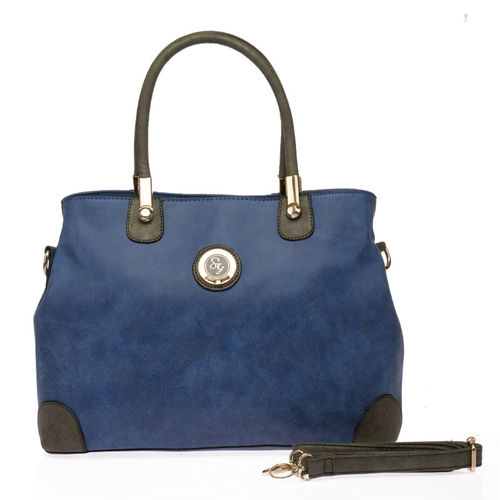 Sally Young Vintage Patchwork Handbag | Blue