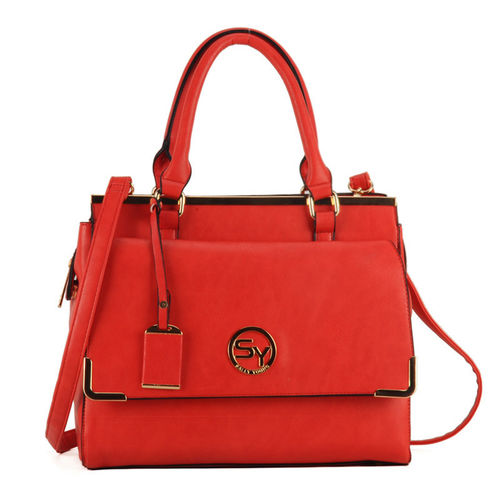 Sally Young Handbag Front Flap Pocket - Red