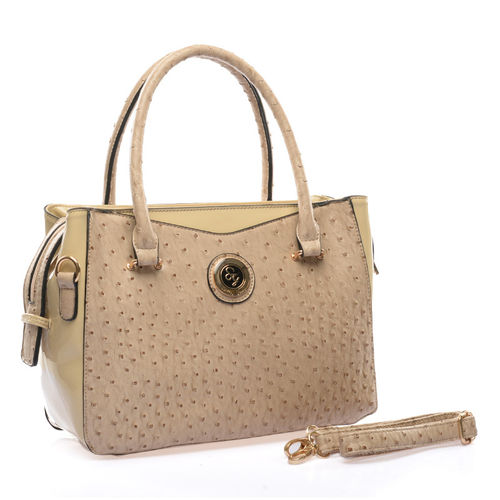 Ostrich Leather Handbags | Beige