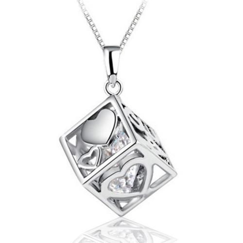 925 Sterling Silver | Love Cube Pendant