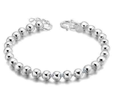 925 Sterling Silver | 5MM Beads Chain Bracelet